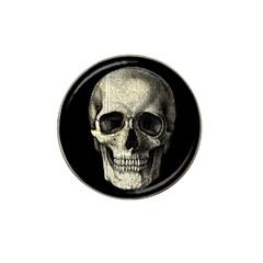 Newspaper Skull Hat Clip Ball Marker by Valentinaart
