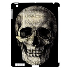 Newspaper Skull Apple Ipad 3/4 Hardshell Case (compatible With Smart Cover) by Valentinaart