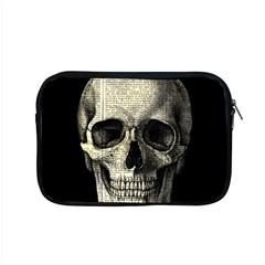 Newspaper Skull Apple Macbook Pro 15  Zipper Case by Valentinaart