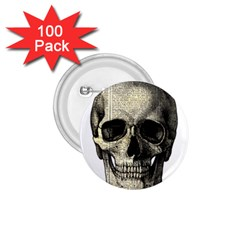 Newspaper Skull 1 75  Buttons (100 Pack)  by Valentinaart