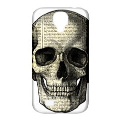 Newspaper Skull Samsung Galaxy S4 Classic Hardshell Case (pc+silicone) by Valentinaart