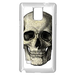 Newspaper Skull Samsung Galaxy Note 4 Case (white) by Valentinaart