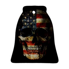American Flag Skull Bell Ornament (two Sides) by Valentinaart