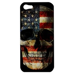 American Flag Skull Apple Iphone 5 Hardshell Case by Valentinaart