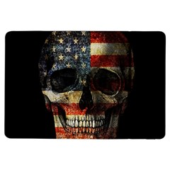 American Flag Skull Ipad Air Flip by Valentinaart