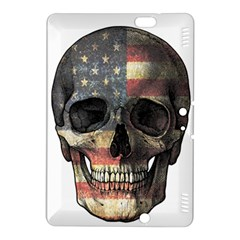 American Flag Skull Kindle Fire Hdx 8 9  Hardshell Case by Valentinaart