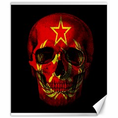 Russian Flag Skull Canvas 20  X 24   by Valentinaart