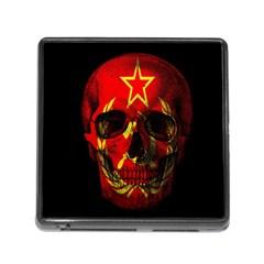Russian Flag Skull Memory Card Reader (square) by Valentinaart