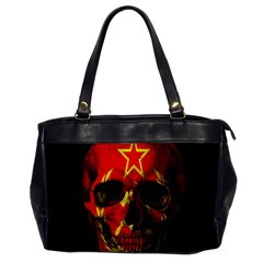 Russian Flag Skull Office Handbags by Valentinaart