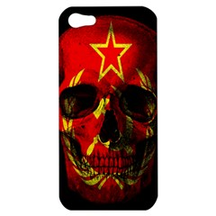 Russian Flag Skull Apple Iphone 5 Hardshell Case by Valentinaart