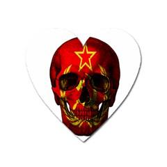 Russian Flag Skull Heart Magnet by Valentinaart