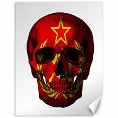 Russian Flag Skull Canvas 12  X 16   by Valentinaart