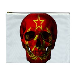 Russian Flag Skull Cosmetic Bag (xl) by Valentinaart