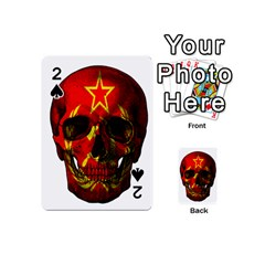 Russian Flag Skull Playing Cards 54 (mini)  by Valentinaart