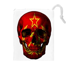Russian Flag Skull Drawstring Pouches (extra Large) by Valentinaart
