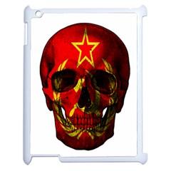 Russian Flag Skull Apple Ipad 2 Case (white) by Valentinaart