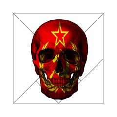 Russian Flag Skull Acrylic Tangram Puzzle (6  X 6 ) by Valentinaart