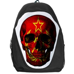 Russian Flag Skull Backpack Bag by Valentinaart