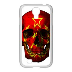 Russian Flag Skull Samsung Galaxy S4 I9500/ I9505 Case (white) by Valentinaart