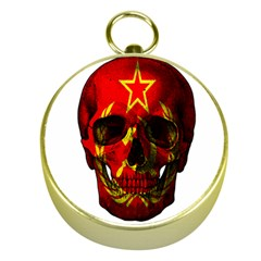 Russian Flag Skull Gold Compasses by Valentinaart