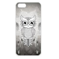 Wonderful Owl, Mandala Design Apple Iphone 5 Seamless Case (white) by FantasyWorld7