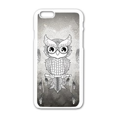 Wonderful Owl, Mandala Design Apple Iphone 6/6s White Enamel Case by FantasyWorld7