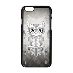 Wonderful Owl, Mandala Design Apple Iphone 6/6s Black Enamel Case by FantasyWorld7