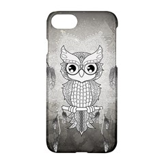 Wonderful Owl, Mandala Design Apple Iphone 7 Hardshell Case by FantasyWorld7