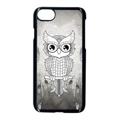 Wonderful Owl, Mandala Design Apple Iphone 7 Seamless Case (black) by FantasyWorld7