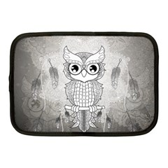 Wonderful Owl, Mandala Design Netbook Case (medium)  by FantasyWorld7