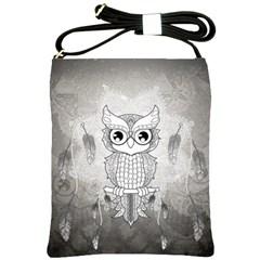 Wonderful Owl, Mandala Design Shoulder Sling Bags by FantasyWorld7