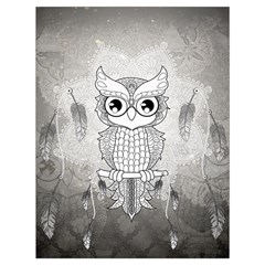 Wonderful Owl, Mandala Design Drawstring Bag (large) by FantasyWorld7