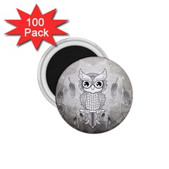 Wonderful Owl, Mandala Design 1 75  Magnets (100 Pack)  by FantasyWorld7