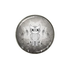 Wonderful Owl, Mandala Design Hat Clip Ball Marker by FantasyWorld7