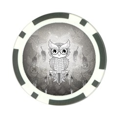 Wonderful Owl, Mandala Design Poker Chip Card Guard (10 Pack) by FantasyWorld7