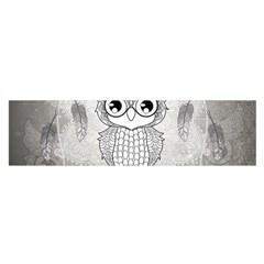 Wonderful Owl, Mandala Design Satin Scarf (oblong)