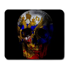Russian Flag Skull Large Mousepads by Valentinaart