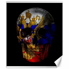 Russian Flag Skull Canvas 8  X 10  by Valentinaart
