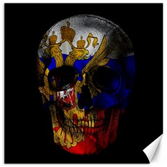 Russian Flag Skull Canvas 16  X 16   by Valentinaart