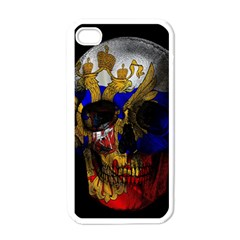 Russian Flag Skull Apple Iphone 4 Case (white) by Valentinaart