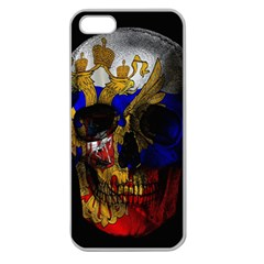 Russian Flag Skull Apple Seamless Iphone 5 Case (clear)