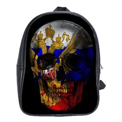 Russian Flag Skull School Bags (xl)  by Valentinaart