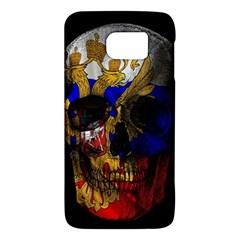 Russian Flag Skull Galaxy S6 by Valentinaart