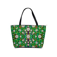 Pearl Flowers In The Glowing Forest Shoulder Handbags by pepitasart