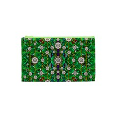 Pearl Flowers In The Glowing Forest Cosmetic Bag (xs) by pepitasart