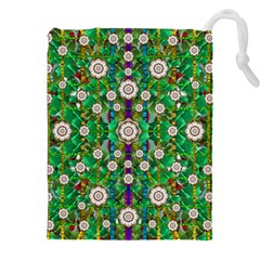 Pearl Flowers In The Glowing Forest Drawstring Pouches (xxl) by pepitasart