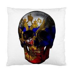 Russian Flag Skull Standard Cushion Case (one Side) by Valentinaart