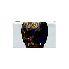 Russian Flag Skull Cosmetic Bag (small)  by Valentinaart