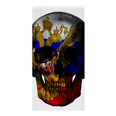 Russian Flag Skull Shower Curtain 36  X 72  (stall)  by Valentinaart