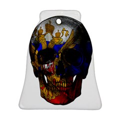 Russian Flag Skull Bell Ornament (two Sides) by Valentinaart